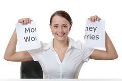 Get out of your money worries Stock Image