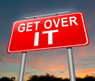 Get over it. Royalty Free Stock Photo