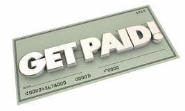 Get Paid Check Money Payment Earning Income Royalty Free Stock Photo