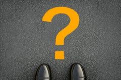 Get perdeu o conceito com ponto de interrogação amarelo imagem de stock royalty free