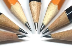 Get The Point. Pencils in a arch royalty free stock image