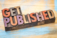 Get published in wood type Royalty Free Stock Photo