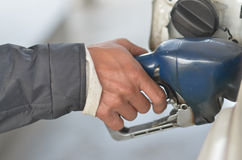 Get pump. Get oil pump in place royalty free stock image