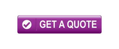 Get a quote. Button - editable vector illustration on isolated white background royalty free illustration