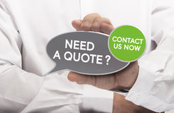 Get a Quote Stock Image