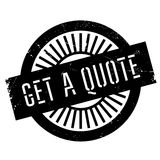 Get a quote stamp Royalty Free Stock Photo