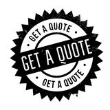 Get a quote stamp Stock Image