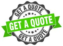 Get a quote stamp. Get a quote grunge stamp on white background stock illustration