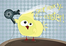 Get ready for Easter. ! Funny Easter illustration Royalty Free Stock Image