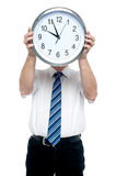 Get ready for the meeting in five minutes! Royalty Free Stock Photo