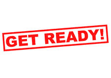 GET READY! Stock Photography