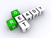 Get ready sign Royalty Free Stock Photography