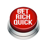 Get Rich Quick Button. An illustration of a big button to help you get rich quick Royalty Free Stock Photography