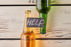 Get rid of alcohol dependence. Alcoholism leads to illness stock image