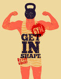 Get in Shape. Typographic Gym phrase  Royalty Free Stock Images