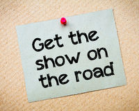Get the Show on the road Royalty Free Stock Image