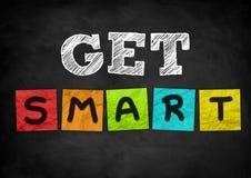 Get smart. Chalkboard illustration concept vector illustration