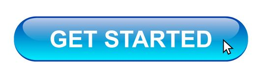 Get started button. Simple get started button editable vector illustration on isolated white background stock illustration