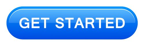 Get started button. Vector illustration of get started button web blue button on white background vector illustration