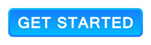 Get started button. Vector illustration of get started button web blue button on white background stock illustration