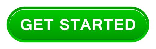 Get started button. Vector illustration of get started button web green button on white background royalty free illustration