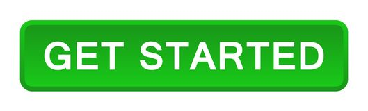Get started button. Vector illustration of get started button web green button on white background vector illustration