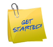 Get started post it Stock Images