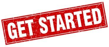 Get started stamp. Get started square grunge stamp. get started sign. get started royalty free illustration