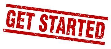Get started stamp. Get started grunge stamp on white background royalty free illustration