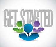 Get started team sign illustration design graphic Royalty Free Stock Photography