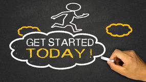 get started today Stock Images