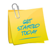 Get started today memo post illustration design Stock Images