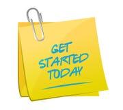 get started today memo post illustration design Stock Images