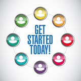 Get started today people network Stock Photos