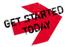 Get started today stamp Royalty Free Stock Image