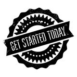 Get started today stamp Royalty Free Stock Photo