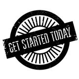 Get started today stamp Stock Images