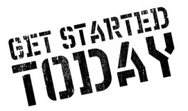 Get started today stamp Stock Photo