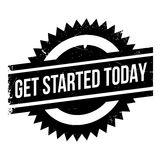Get started today stamp Stock Photography