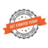 Get started tomorrow stamp illustration Stock Image
