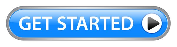 Get started button. Get started web button on computer generated web button icon on pure white background vector illustration