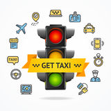 Get Taxi Concept. Vector royalty free illustration