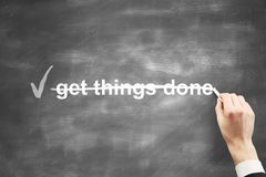 Get things done royalty free stock images