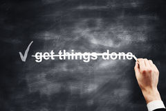 Get things done. Hand drawing get things done royalty free stock photos