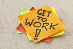 Get to work reminder Stock Photography