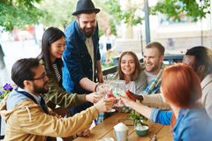Get-together of friends Royalty Free Stock Photos
