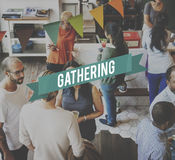 Get Together Gathering Support Teamwork Concept royalty free stock photos