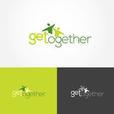 Get Together Logo. Works of the illustration and vector Get together logo Stock Image