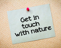 Get in touch with nature Stock Images