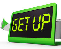Get Up Clock Message Meaning Wake Up And Rise Stock Photography